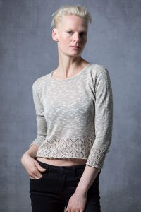 Oat coloured scottish knitwear