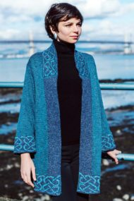 Jacket Dark Turquoise Long Mull