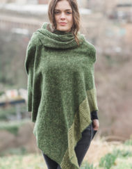 Moss Donegal Cape & Snood