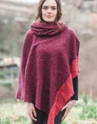Raspberry Donegal Cape & Snood