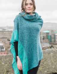 Teal Donegal Cape & Snood Set