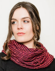 Raspberry Donegal Snood
