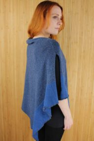 Denim Cashmere Cape