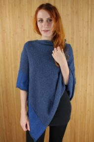 Denim Scottish Cashmere Cape