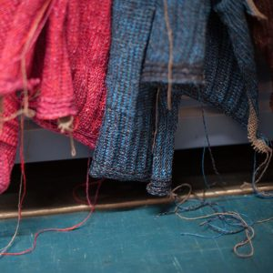 freshly knitted garments at Bill Baber Knitwear