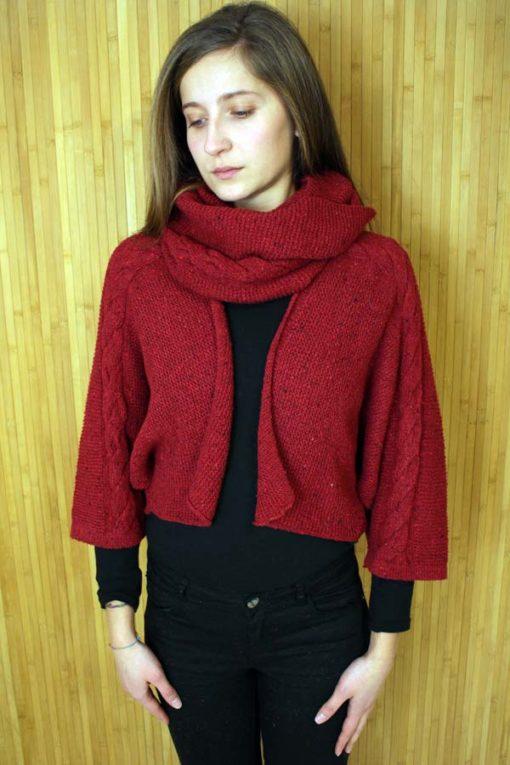 Red Islay Jacket & Snood