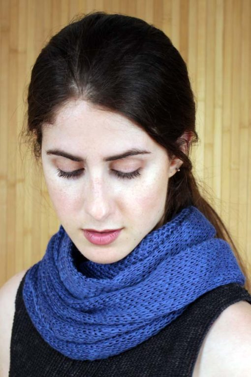 Coolroe Blue Linen & Cotton Infinity Scarf