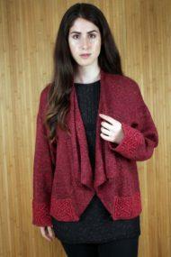Bordeaux Silk & Linen Montrose Jacket