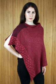Bordeaux Wallace Shawl