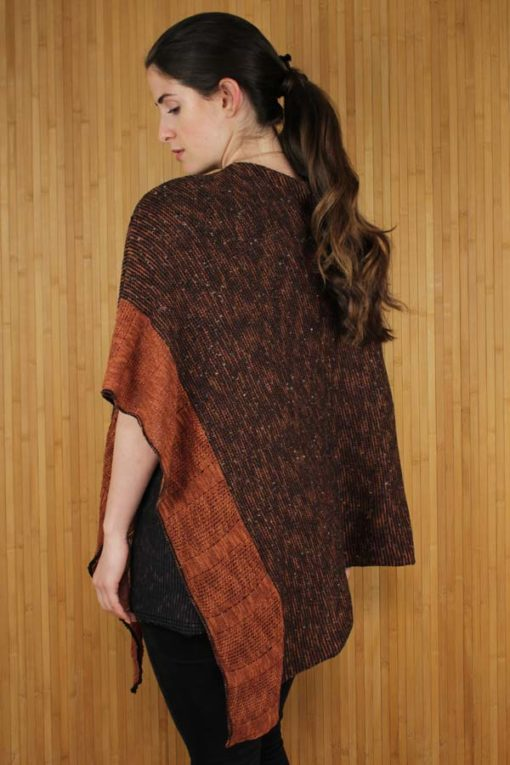 Bronze Donegal Merino Wool & Linen Cape