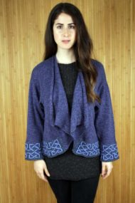 Grape Silk & Linen Montrose Jacket