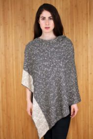 Ivory Donegal Merino Wool & Linen Cape