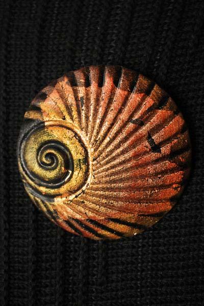 Bronze Shell Brooch