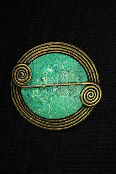 Cavan Scroll Brooch