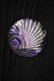 Grape Shell Brooch