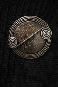 Ivory Scroll Brooch