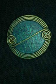 Jewel Scroll Brooch