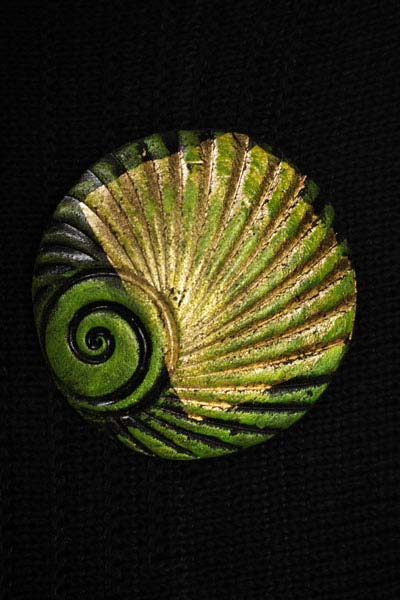 Moss Shell Brooch