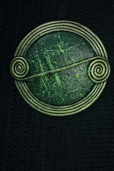 Moss Scroll Brooch