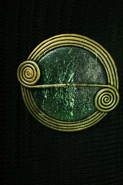 Pine Scroll Brooch