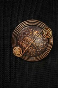 Sienna Scroll Brooch