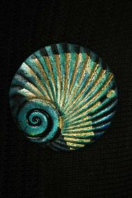 Spearmint Shell Brooch