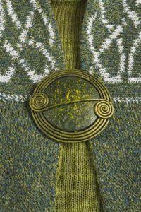 Clover Scroll Brooch