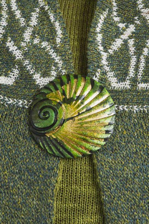 Clover Shell Brooch