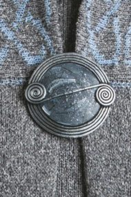 Sleet Scroll Brooch