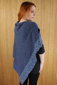 Denim Blue Ballater Shawl