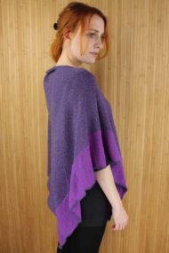 Grape Scottish Cashmere & Silk Shawl