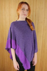 Grape Purple Scottish Cashmere & Silk Poncho