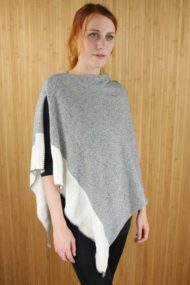 Mist Grey Scottish Cashmere & Silk Poncho