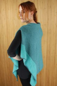 Spearmint Scottish Cashmere & Silk Poncho