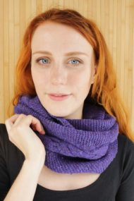 Dariana Purple Islay Infinity Scarf