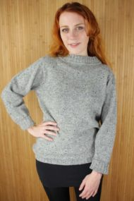 Greese Grey Merino Wool Sweater