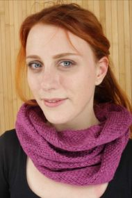 Mallow Pink Infinity Scarf