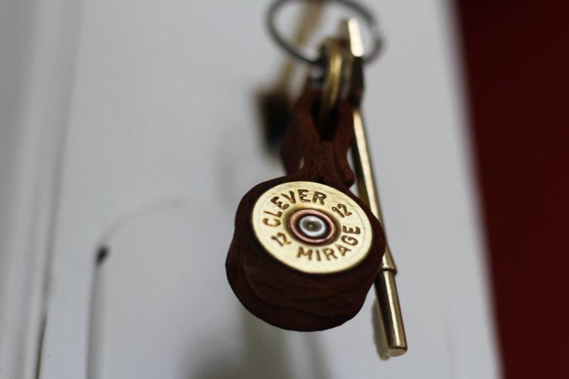 Shotgun cartridge key ring
