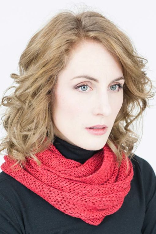 Berry Red Orkney Snood