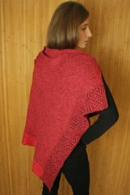 Bordeaux Ballater Shawl - rear
