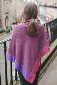 Burgundy Ballater Shawl - rear