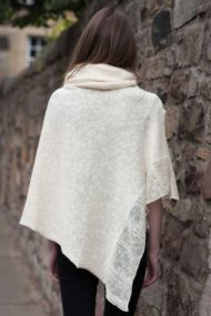 Ecru Linen Cape & Snood Set