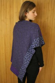 Grape Ballater Shawl - rear