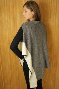 Ivory Silk & Cashmere Cape