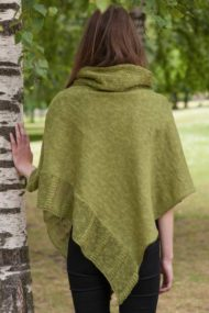 Moss Linen Cape & Snood Set