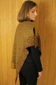 Mustard Ballater Shawl - rear