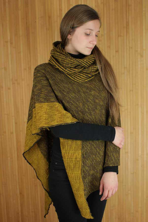 Mustard Donegal Cape & Snood Set