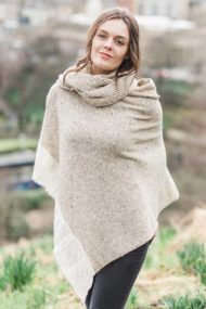 Oat Donegal Cape & Snood Set