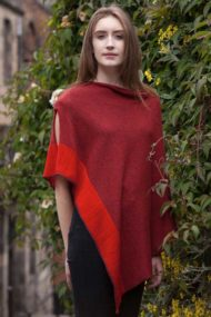 Raspberry Silk & Cashmere Cape