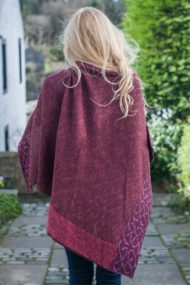 Raspberry Wallace Shawl